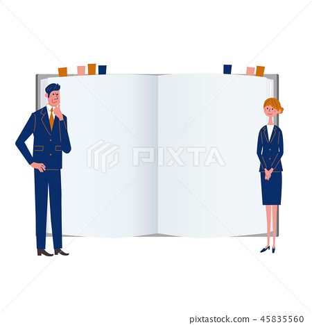 Businessman business woman qualification reference book 45835560