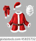 santa, costume, clothes 45835732