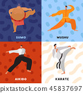 Martial Arts Flat Design Concept 45837697
