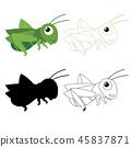 grasshopper worksheet vector design 45837871