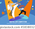 Martial Arts Competition Flat Illustration 45838032