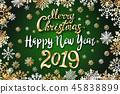 vector gold Merry Christmas Happy new year 2019 45838899
