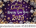 vector gold Merry Christmas Happy new year 2019 45838900