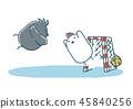 飞扬的鸡和乌鸦手球 45840256