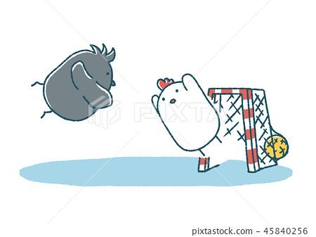 飛揚的雞和烏鴉手球 45840256