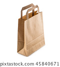 Empty shopping hand bag with recycle paper. 45840671