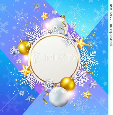 Abstract vector Christmas background 45841836