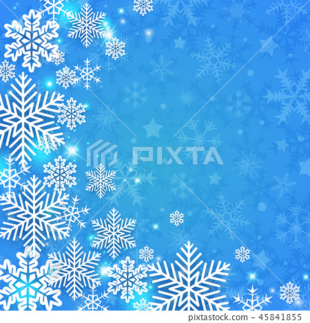 Christmas background with white snowflakes. 45841855