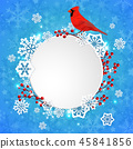 Christmas bird snowflake 45841856