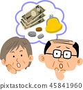 高級夫婦的錢麻煩面對錶達 45841960