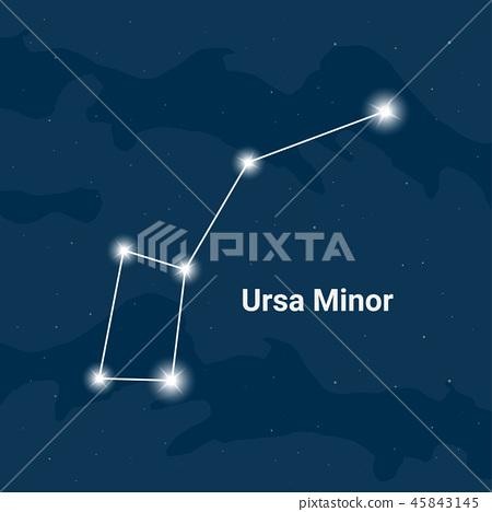 The constellation Ursa Minor (The Little Bear)  45843145
