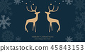reindeer christmas animal 45843153