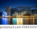 night scene of port of kobe in osaka aera, japan 45843430