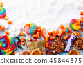 Sweets with sugar 45844875