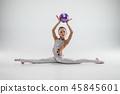 gymnastics stretch girl 45845601