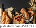 บาแก็ต,,ขนมปังฝรั่งเศส,ครัวซองค์ 45846933