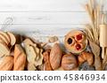 บาแก็ต,,ขนมปังฝรั่งเศส,ครัวซองค์ 45846934