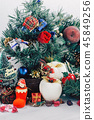 Christmas background with decorations  45849256