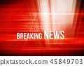 Graphical red theme breaking news background  45849703