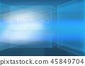 Abstract high tech 3d space digital technology  45849704