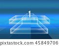 3D stage with transparent boxes on ground 45849706