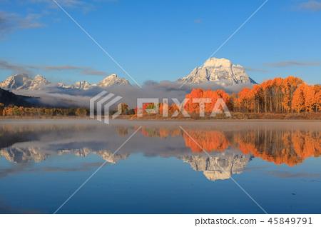 Teton Scenic Autumn Reflection 45849791