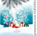greeting, snowfall, christmas 45850491