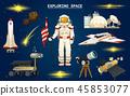 rocket spaceship astronaut 45853077