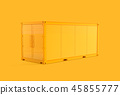 Container Mockup yellow color with clipping path. 45855777