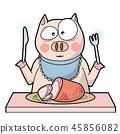 pig ham eat 45856082
