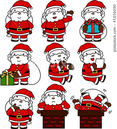 圣诞老人可爱圣诞12月 45856090
