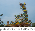 Dragon Sculpture Temple in China 45857753