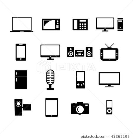 Electronic icon 45863192