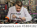engineer, laptop, circuit 45864182