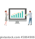 Business image illustration personal computer IT network 45864906