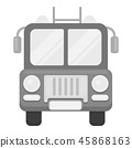 Fire truck icon monochrome. Single silhouette fire equipment icon from the big fire Department 45868163