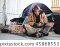 male, homeless, poverty 45868553