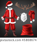 Vector Santa Claus costume with accessories 45868674