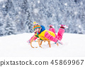 snow, winter, sleigh 45869967
