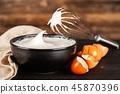 Beaten egg whites 45870396