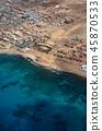 Santa Maria city from airplane. Sal, Cape Verde 45870533