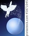 우주를 비행 페가수스와 고양이 45871045