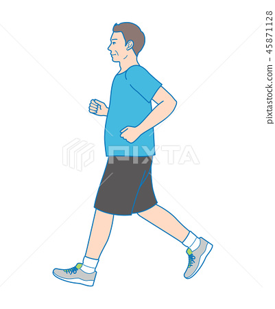 Man doing jogging 45871128