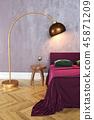 Bedroom scene, 3D rendering 45871209