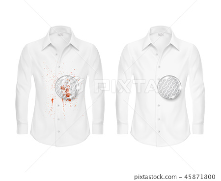 realistic shirts before and after washing 45871800
