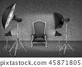 studio, lamp, chair 45871805