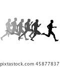 runner, vector, sprint 45877837