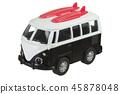 Mini van toy in retro style isolated on white 45878048