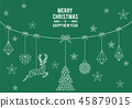 Geometric Christmas card, vector 45879015