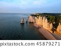beach, cliff, coast 45879271
